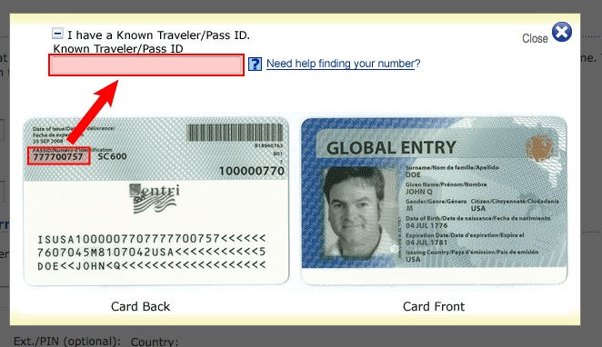 Trusted Traveler Id Number